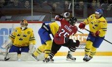 Latvijas izlases sastāvā otrajā mačā pret zviedriem iekļauti Indrašis, Meija un Ķēniņš