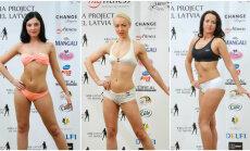 Foto: Kā trīs nedēļās progresējušas bikini fitnesa konkursa dalībnieces