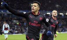 Sančess izrauj 'Arsenal' uzvaru pār 'Burnley'