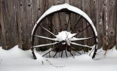 Снег впервые в этом году покрыл всю территорию Латвии
