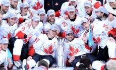 Kanāda iemet divus vārtus pēdējās trīs minūtēs un izcīna Pasaules kausu hokejā