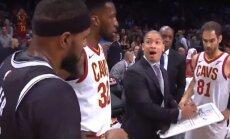 Video: 'Nets' spēlētājs noklausās 'Cavaliers' apspriedi ar treneri