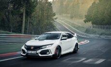 Par ātrāko priekšpiedziņas auto Nirburgringas trasē kļuvis 'Honda Civic Type R'