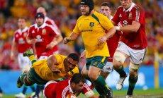 'Britu un īru lauvas' pārspēj Austrālijas regbija izlasi