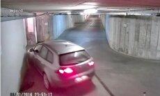 Video: Piedzēries polis pazemes stāvvietā katrā pagriezienā apskādē savu auto