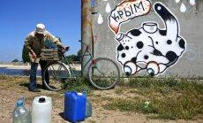 Ukraina 'piegriež' ūdens piegādi Krimai; Krievija gatavo dārgu alternatīvu