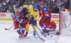 Zviedrijas hokejisti Pasaules kausa turnīru sāk ar uzvaru pār Znaroka trenēto Krieviju