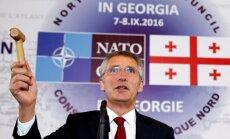 Gruzija pavirzījusies tuvāk NATO, paziņo Stoltenbergs