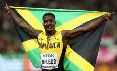 Makleods savu uzvaru 110 m barjersprintā velta Boltam