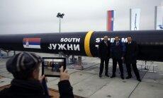 'Gazprom' Serbijā uzsāk Krievijas finansētā gāzes vada 'South Stream' būvniecību