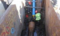Katlakalna ielā, izmantojot jaunu metodi, renovēts ūdensvads