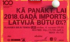 Raidījums: Ideju Teniss. Kā panākt, lai 2018. gadā imports Latvijā būtu 0%?