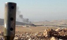 Karte: Turcijas spēki netālu no Kobanes uzbrūk Sīrijas kurdiem