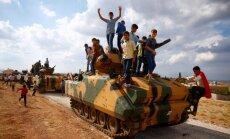 Foto: Turku karaspēks gatavojas pārņemt jaunas Sīrijas teritorijas