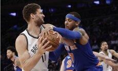 'Knicks' bez Porziņģa vēlreiz zaudē 'Nets'