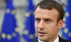 Makrons: Francijas ES vīzijai nepieciešams Vācijas atbalsts