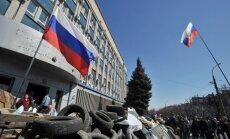 Luhanskas reģionālā policija par separātisma atbalstīšanu atlaidusi aptuveni 1000 policistus