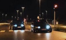 Video: Latvijā ielu huligāniem ar BMW radīta himna 'Lido beha'