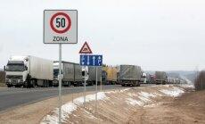 Krievija uz Kaļiņingradas robežas aptur Latvijas piena produktu kravu