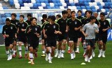 Dienvidkorejas futbolisti 'spēlē paslēpes' un trenējas ar neīstajiem numuriem