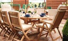 Kā pareizi kopt dārza mēbeles?