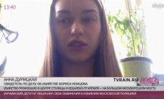 Ņemcova slepkavības galvenā lieciniece atgriezusies Kijevā