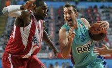 'Olympiacos' basketbolisti neļauj 'Barcelona' iekļūt Eirolīgas finālā