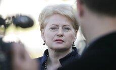 Grībauskaite kritizē Ukrainas pamiera vienošanos
