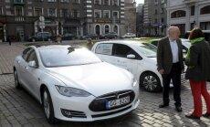 Число электромобилей в Латвии остается ничтожным