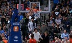 Video: 'Mavericks' aizsargs pats sev skaisti piespēlē un satricina grozu