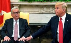 Junkers ir 'ciets, ciets cepumiņš', EK prezidentu raksturo Tramps