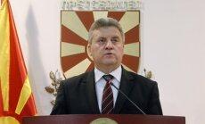 Maķedonijas prezidents atceļ korupcijas un noklausīšanās skandālā iesaistīto politiķu amnestiju