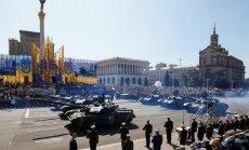 Foto: Ukrainas neatkarības dienas parādē soļo arī ASV karavīri