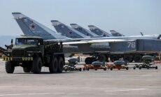 Sīrijā nogalināti divi Krievijas karavīri un bojātas lidmašīnas