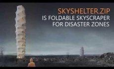 ВИДЕО. Архитекторы спроектировали складной небоскреб, который помещается в коробку