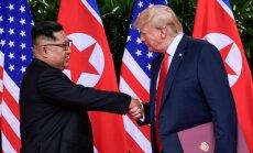 Pompeo: Trampa un Kima samits, visticamāk, notiks pēc oktobra