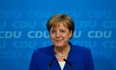 Merkele neizslēdz Vācijas piedalīšanos gaisa triecienos pret Sīriju