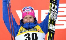 Titulētā distanču slēpotāja Bjergena uzvar otrajās PK sacensībās pēc atgriešanās