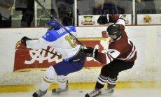 Latvijas U-20 hokejistiem 'sausā' uzvara pēdējā spēlē pirms PČ