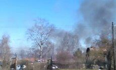 Video: Pie Juglas kanāla vairāku metru augstumā deg niedres