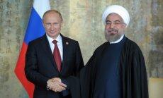 Sankciju ietekme: Krievija un Irāna apvieno spēkus un noslēdz ievērojamu tirdzniecības līgumu