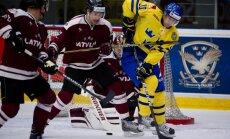 Latvijas hokejistiem zaudējums pirmajā pārbaudes spēlē