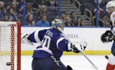 Gudļevskis paliek 'sausā' NHL pārbaudes spēlē