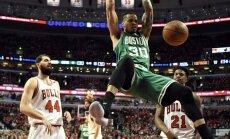 'Celtics' un 'Wizards' basketbolisti iekļūst NBA Austrumu konferences pusfinālā