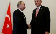 Erdogans ieradies vizītē pie Putina