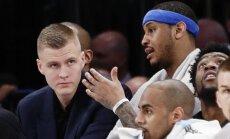 Porziņģis nepiedalīsies arī 'Knicks' komandas sezonas priekšpēdējā spēlē