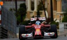 Alonso ātrāks par Hamiltonu otrajā F-1 treniņā Monako