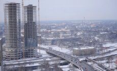 Darba inspekcija atļauj būvdarbus vienā augstceltņu 'Z-Towers' tornī