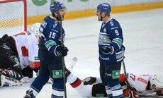 Daugaviņš un Karsums ar gūtiem vārtiem palīdz Maskavas 'Dinamo' uzveikt Bārtuļa 'Baris'
