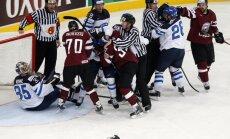 Latvija pārsteidz Somiju un pirmo reizi pasaules čempionātu sāk ar uzvaru